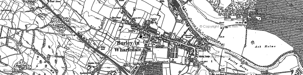Old map of Ash Holme in 1889
