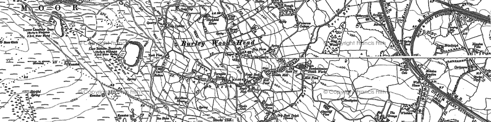 Old map of Burley Woodhead in 1906