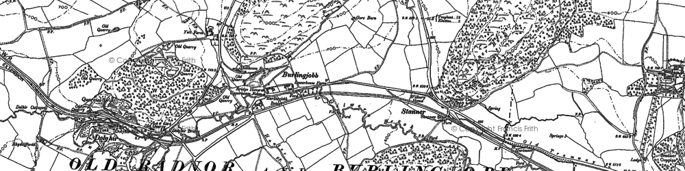 Old map of Weythel in 1887