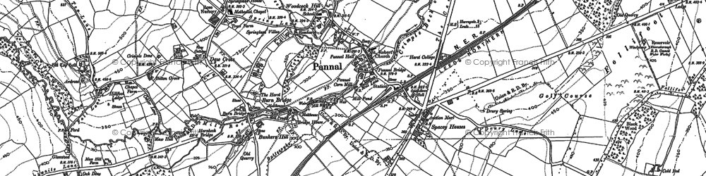 Old map of Yew Tree in 1888