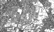 Old Map of Burnage, 1905