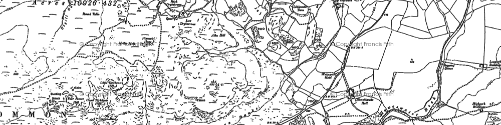 Old map of Willdale in 1897
