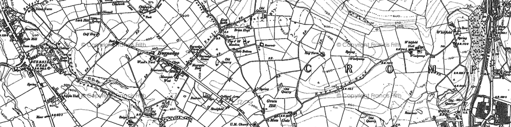 Old map of Balderstone in 1907