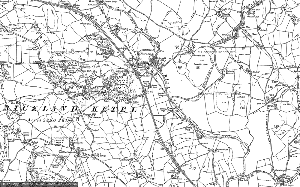 Old Map of Historic Map covering Tolson Hall in 1897