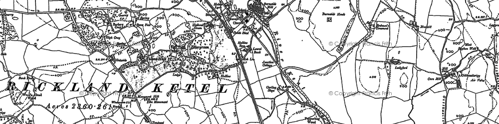 Old map of Tolson Hall in 1897