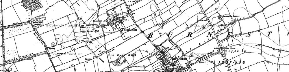 Old map of Burneston in 1891