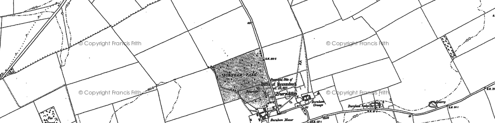 Old map of Wootton Wold in 1886