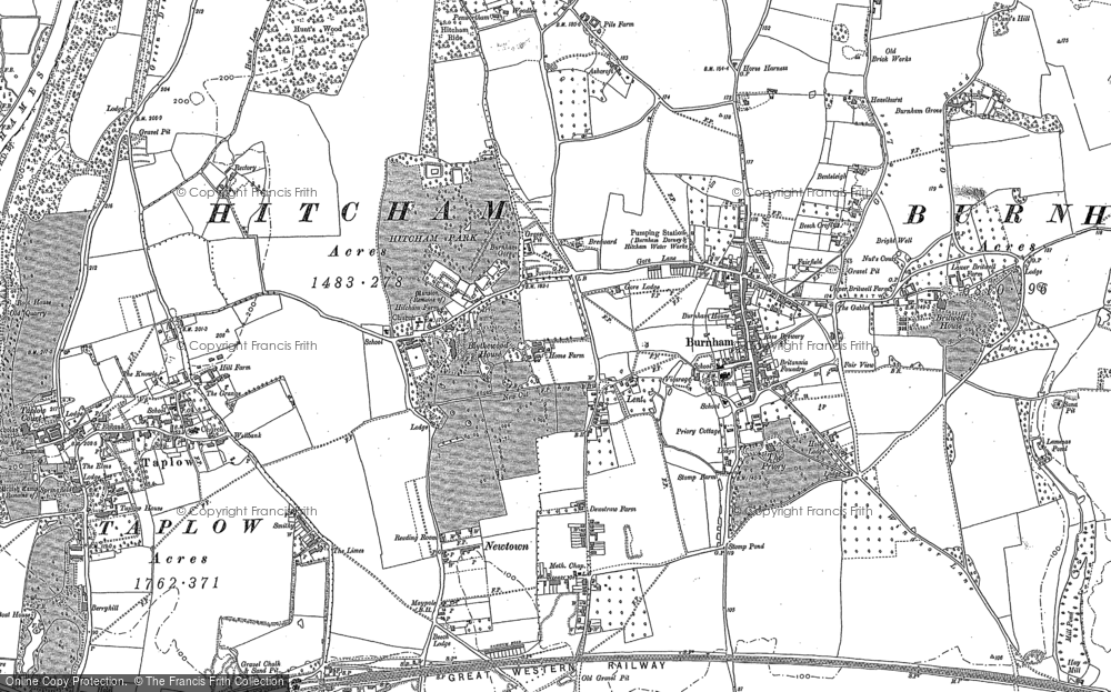 Old Map of Historic Map covering Lent in 1897