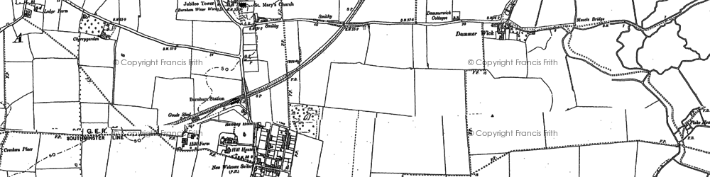 Old map of West Wick in 1895