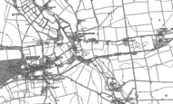 Old Map of Burnham Overy Town, 1886
