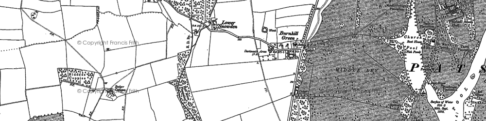 Old map of Wildicote in 1900