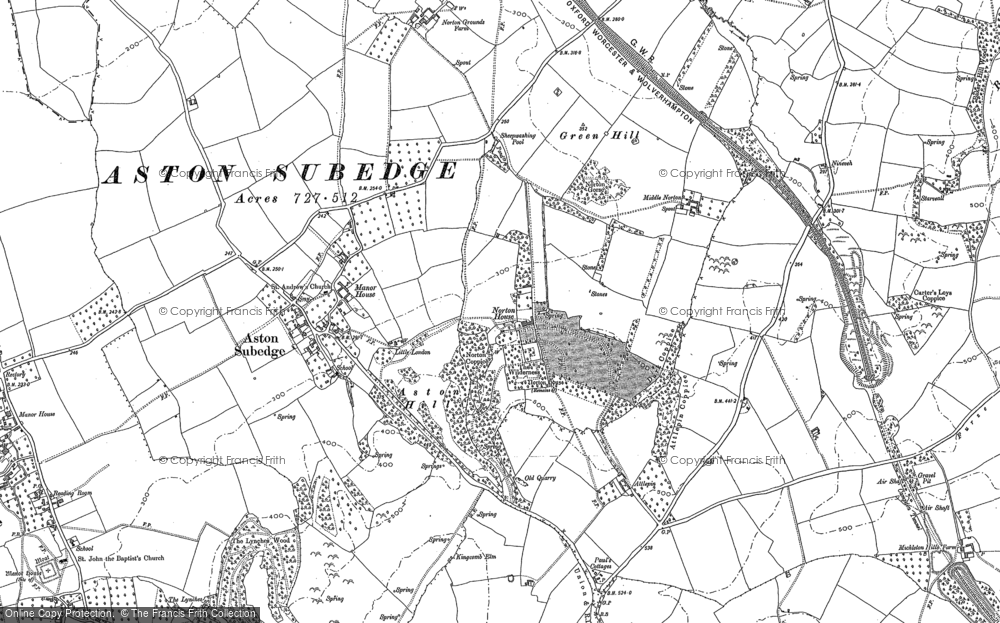 Old Map of Burnt Norton, 1900 in 1900
