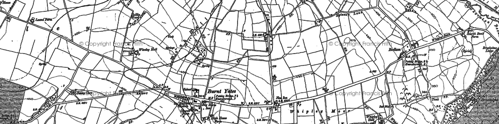 Old map of Winsley in 1907