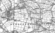 Old Map of Burntwood, 1882 - 1883