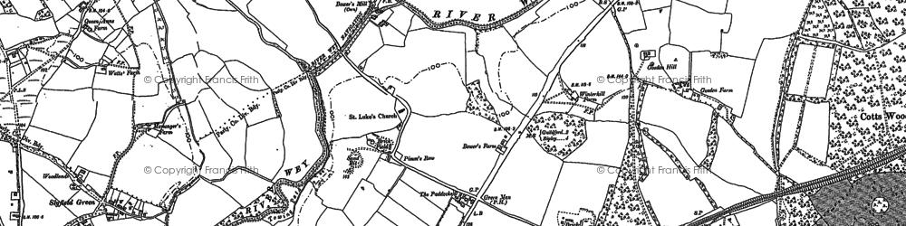 Old map of Burpham in 1895