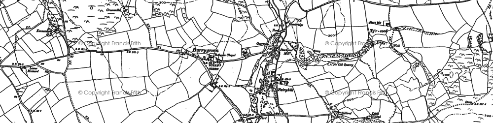 Old map of Burry Green in 1896