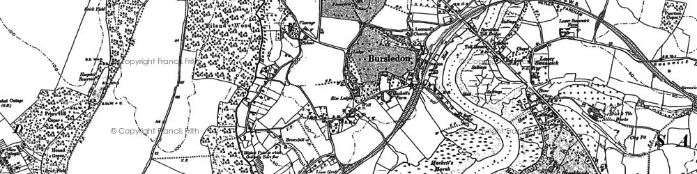 Old map of Bursledon in 1895