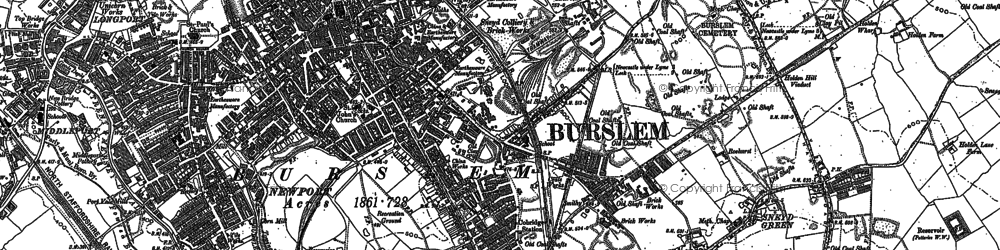 Old map of Bank Top in 1878