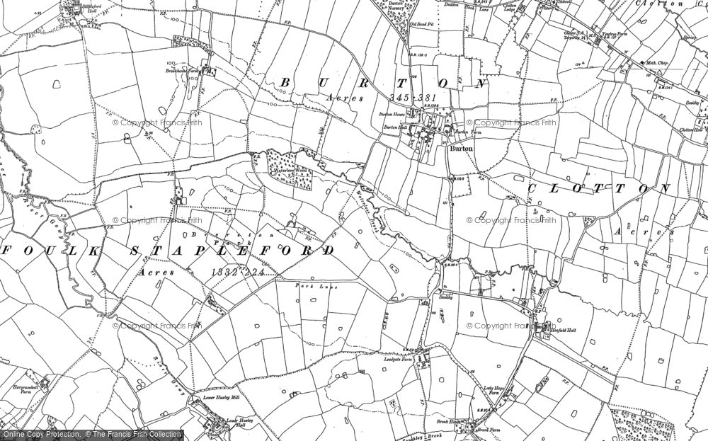Old Map of Burton, 1897 in 1897