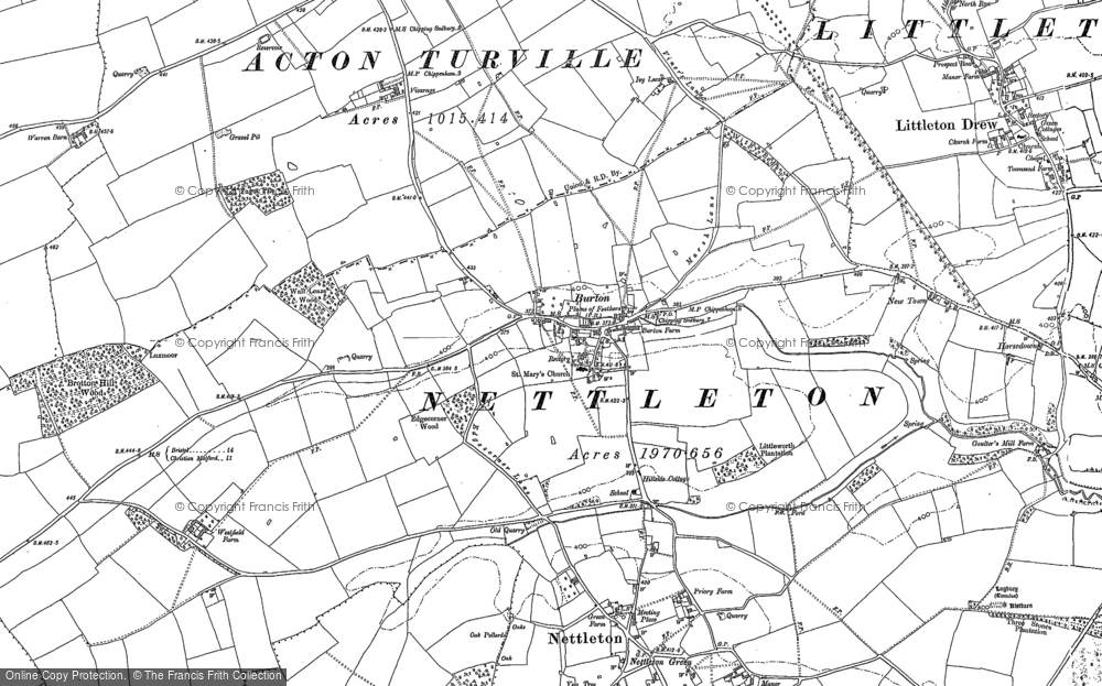 Old Map of Burton, 1899 - 1919 in 1899