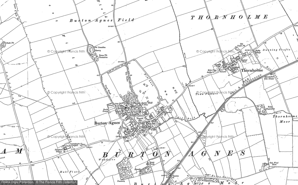 Old Map of Burton Agnes, 1888 - 1891 in 1888