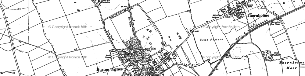 Old map of Burton Agnes in 1888