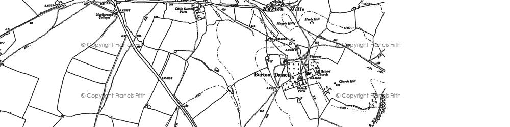 Old map of Burton Dassett in 1885