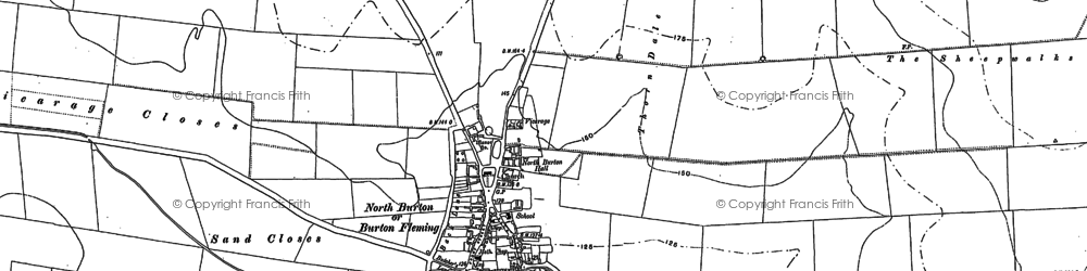Old map of Burton Fleming in 1888