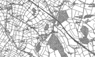 Old Map of Burton Green, 1886