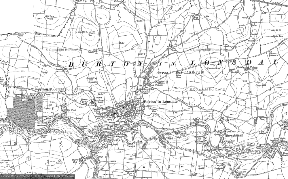 Old Map of Burton in Lonsdale, 1907 in 1907