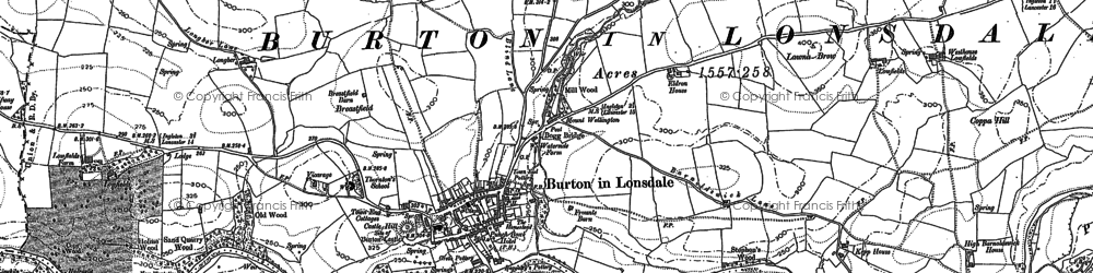 Old map of Burton in Lonsdale in 1907