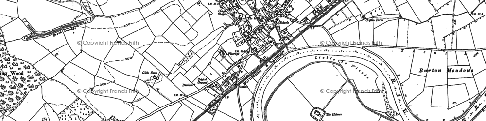 Old map of Burton Joyce in 1883