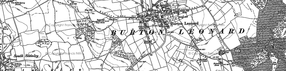 Old map of Burton Leonard in 1890