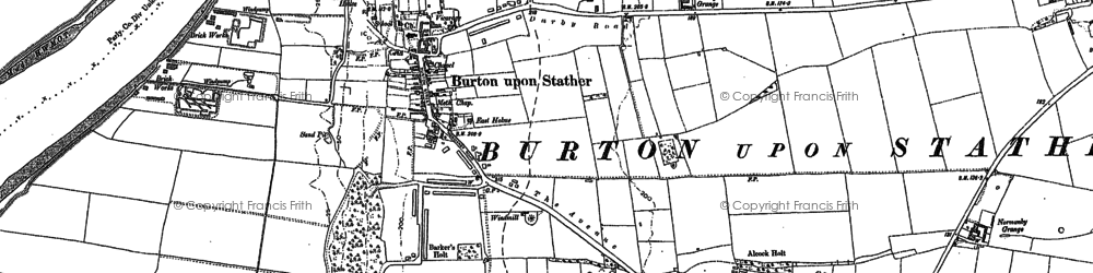 Old map of Burton upon Stather in 1906