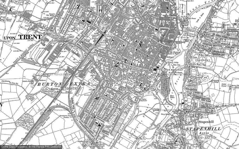 Burton On Trent Map Old Maps of Burton upon Trent   Francis Frith
