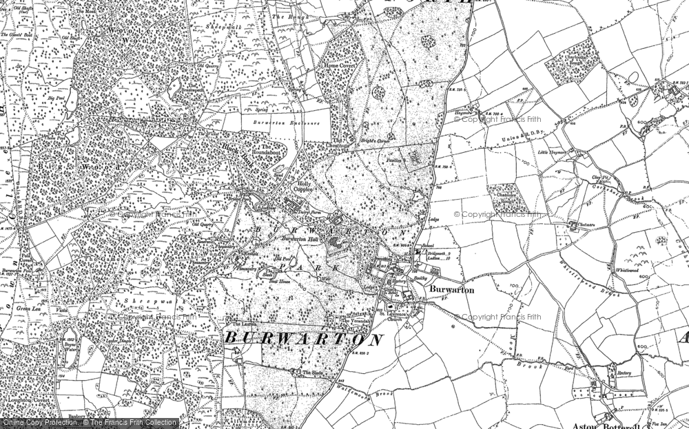 Old Map of Historic Map covering Banbury in 1883