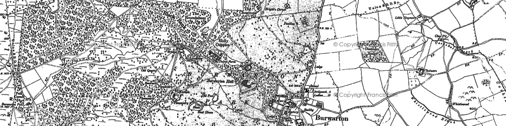 Old map of Banbury in 1883