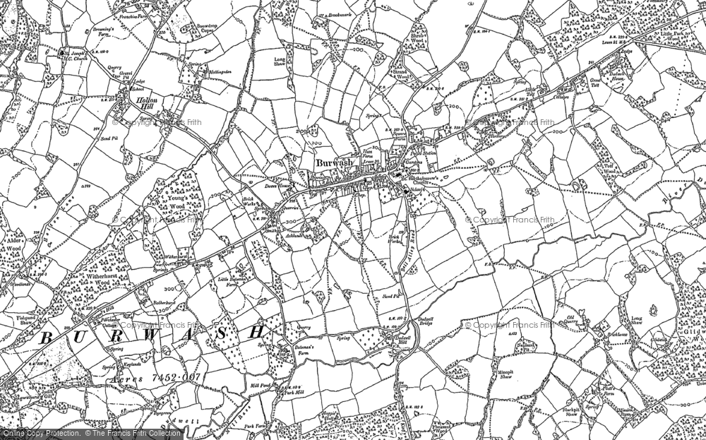 Map of Burwash, 1897 - 1908