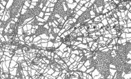 Old Map of Burwash Weald, 1897