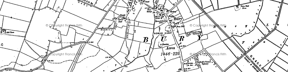 Old map of Bury in 1887