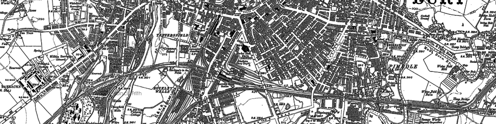 Old map of Limefield in 1891