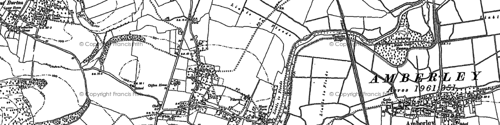 Old map of Bury in 1896