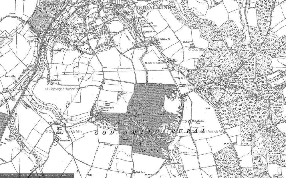 Old Map of Busbridge, 1870 - 1895 in 1870