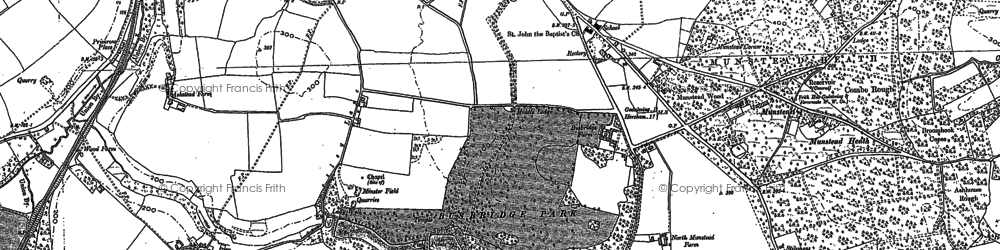 Old map of Busbridge in 1870