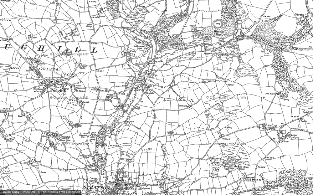 Old Map of Historic Map covering Tiscott in 1905