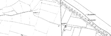 Old map of Eccles on Sea centred on your home