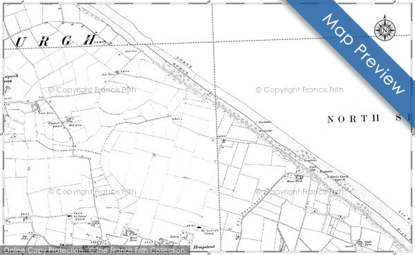 Historic map of Eccles on Sea