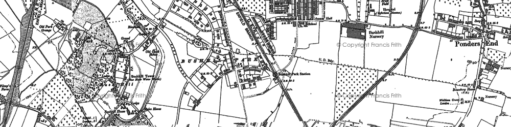 Old map of Bush Hill Park in 1895