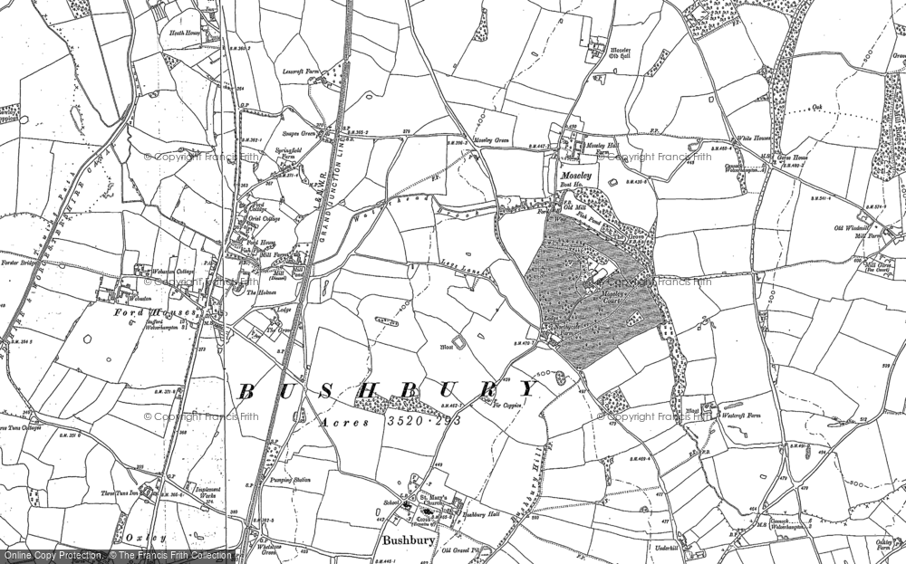 Old Map of Bushbury, 1883 - 1886 in 1883