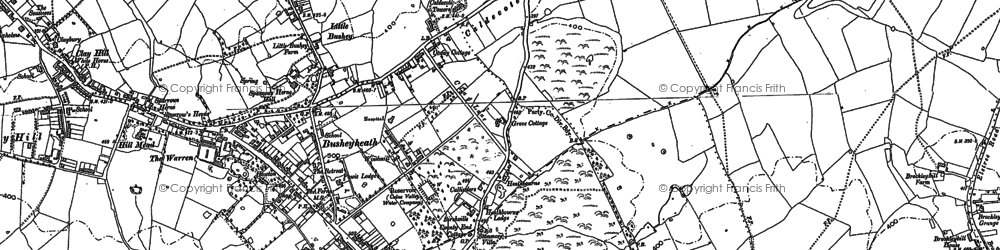 Old map of Caldecote Hill in 1911